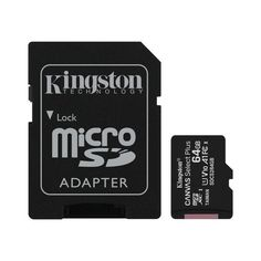 Карта памяти Kingston microSDXC 64GB Class 10 UHS-I R100MB/s + SD-адаптер от MOYO