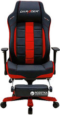 Кресло для геймеров DXRacer Classic OH/CT120/NR + подножка (чёрное/красные вставки) (62184) от Rozetka