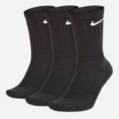 Набор носков Nike U Nk Everyday Cush Crew 3pr SX7664-010 38-42 (M) 3 пары Черный (888407233609) от Rozetka