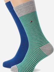 Набор носков Tommy Hilfiger Men Small Stripe Sock 342029001-289 43-46 2 пары (8718824651637) от Rozetka