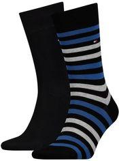 Набор носков Tommy Hilfiger Socks Duo Stripe 2-Pack Men 472001001-040 43-46 2 пары (8718824567785) от Rozetka
