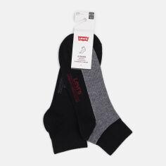 Набор носков Levi's 993066001-884 43-46 2 пары Черный (8718824837116) от Rozetka