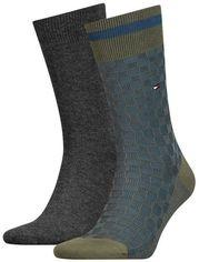 Набор носков Tommy Hilfiger Socks Basket Knit 2-Pack Men 482017001-150 39-42 2 пары (8718824568645) от Rozetka