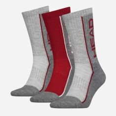 Набор носков HEAD Performance Crew 3P Unisex 791011001-070 43-46 р 3 пары Красный/Серый (8718824742625) от Rozetka
