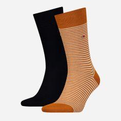 Набор носков Tommy Hilfiger Socks Small Stripe 2-Pack Men 342029001-083 43-46 2 пары (8718824567334) от Rozetka