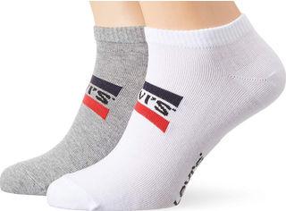 Набор носков Levi's 903015001-062 43-46 2 пары Белый/Серый (8718824835570) от Rozetka
