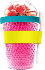Контейнер для еды Asobu Chill Yo 2 Go 380 мл с ложкой Розовый (CY2GO PINK) от Rozetka