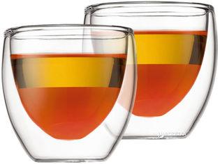 Акция на Набор низких стаканов Bodum Pavina 2 шт x 80 мл (4557-10) от Rozetka