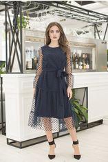 Платье ELFBERG 420 48 Темно-синее (2000000359090) от Rozetka