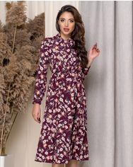 Платье ELFBERG 449 42 Бордовое (2000000374413) от Rozetka