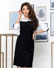 Платье ELFBERG 437 42 Черное (2000000371177) от Rozetka