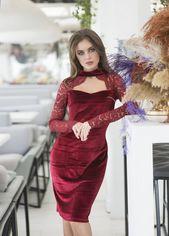 Платье ELFBERG 424 42 Бордовое (2000000358826) от Rozetka