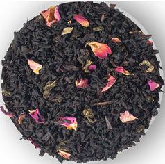 Упаковка купажу черный и зеленый листовый чая с лепестками цветов ароматом вишни и шелковицы Чайные шедевры Вишневый конфитюр 500 г (4820198874742) от Rozetka