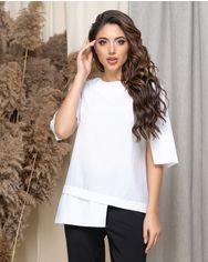 Блузка ELFBERG 440 42 Белая (2000000372716) от Rozetka