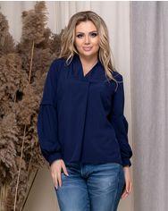 Блузка ELFBERG 5175 50 Темно-синяя (2000000373881) от Rozetka