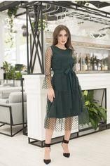 Платье ELFBERG 420 46 Темно-зеленое (2000000359045) от Rozetka