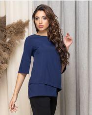 Блузка ELFBERG 440 46 Темно-синяя (2000000372853) от Rozetka