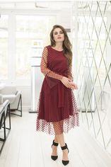 Платье ELFBERG 420 44 Бордовое (2000000358994) от Rozetka