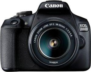 Фотоаппарат CANON EOS 2000D 18-55 DC III Black (2728C007) от MOYO
