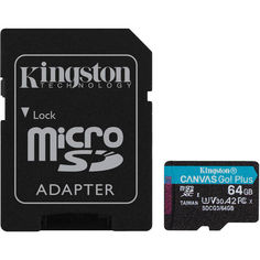 Карта памяти Kingston microSDXC 64GB Canvas Go Plus 170R A2 U3 V30 + Адаптер от MOYO