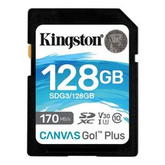 Карта памяти KINGSTON 128GB SDXC Canvas Go Plus 170R Class 10 UHS-I U3 V30(SDG3/128GB) от MOYO