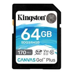 Карта памяти KINGSTON 64GB SDXC Canvas Go Plus 170R Class 10 UHS-I U3 V30(SDG3/64GB) от MOYO