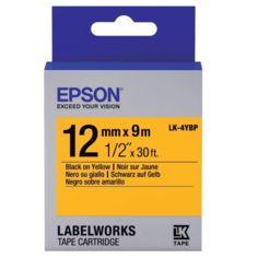 Акция на ЛентаEpsonLK4YBPпринтеровLW-300/400/400VP/700PastelBlack/Yellow12mm/9m от MOYO