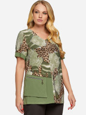 Блузка All Posa Есения 100079 54 Оливковая от Rozetka