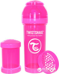 Антиколиковая бутылочка Twistshake 260 мл Розовая (7350083120076) от Rozetka