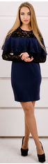Платье Olis-Style Элис 2107 48 Синее от Rozetka