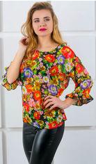 Блузка Olis-Style Стейси 6126 48 Красная с цветами от Rozetka
