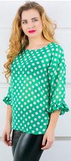 Блузка Olis-Style Стейси 6123 48 Зеленая с горошком от Rozetka
