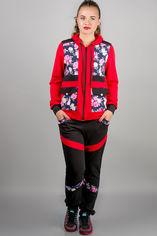 Спортивный костюм Olis-Style Анжелика 4499 46 Красные цветы от Rozetka