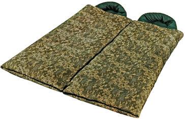 Спальный мешок одеяло Champion Tourist Камуфляжный 2 шт L+R (А00338) от Rozetka