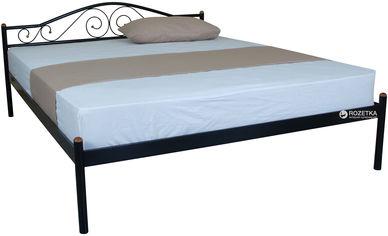 Акция на Двуспальная кровать Eagle Alba 160 x 200 Black (E2523) от Rozetka