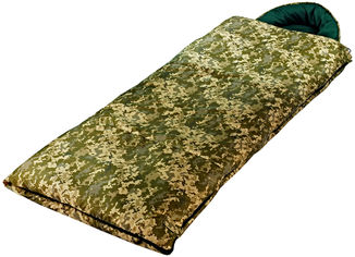 Акция на Спальный мешок Champion Турист правый Камуфляж (А00085) от Rozetka