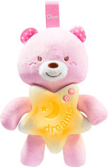 Акция на Игрушка музыкальная Chicco Goodnight Bear Розовая (09156.10) от Rozetka
