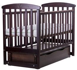Детская кроватка Angelo Lux-7 Темный орех (11019) от Rozetka