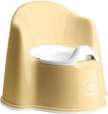Горшок-кресло Baby Bjorn Potty Chair Бледно-желтый/Белый (55266) от Rozetka
