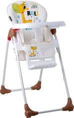 Стульчик для кормления Bertoni (Lorelli) Oliver Giraf Белый/бежевый (Oliver-white&beige giraf) (3800151903796) от Rozetka
