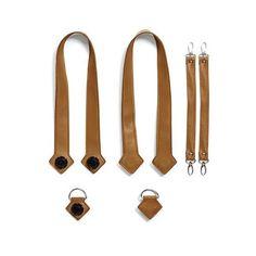 Набор ручки, фиксаторы, ремни на коляску эко-кожа MyMia коричневый (NV8803CAMEL) от MOYO
