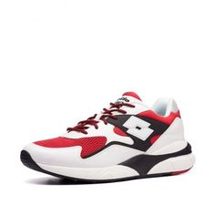 Кроссовки мужские Lotto ATHLETICA SIRIUS  POPE RED/WHITE/ALL BLACK 213195/5MF от Lotto-sport