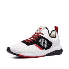 Кроссовки мужские Lotto TOKYO MARATHON KNIT BLOCK  ALL WHITE/ALL BLACK/HUG RED 214030/6GS от Lotto-sport