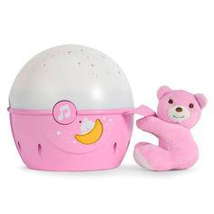 Акция на Игрушка-проектор Chicco Next 2 Stars розовая со звуковым эффектом (07647.10) от Будинок іграшок