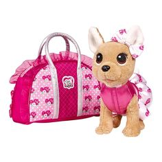 Акция на Мягкая игрушка Chi Chi Love Чихуахуа Розовая мода 20 см (5893346) от Будинок іграшок