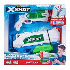 Акция на Набор водных бластеров X-Shot Fast Fill Medium And Small (56225) от Будинок іграшок