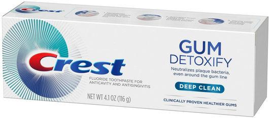 Очищающая зубная паста Crest Gum Detoxify Deep Clean 116 г (37000754213) от Rozetka