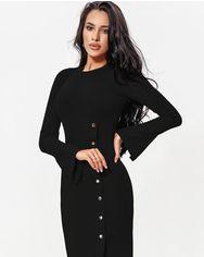 Черное платье из трикотажа от Gepur