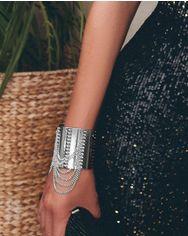 Серебристый браслет-манжета от Gepur