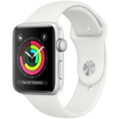 Акция на Смарт-часы APPLE Watch Series 3 GPS 42mm Silver Aluminum Case with White Sport Band (MTF22FS/A) от Foxtrot